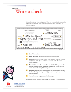 Write a check How to