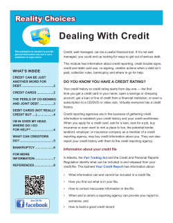 Dealing With Credit Reality Choices