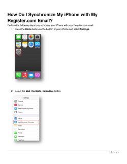 How Do I Synchronize My iPhone with My Register.com Email?