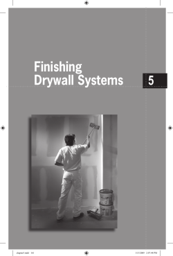 Finishing Drywall Systems 5 chapter5.indd   161
