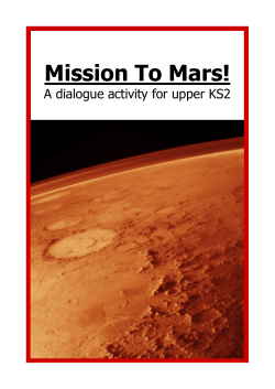 Mission To Mars! A dialogue activity for upper KS2