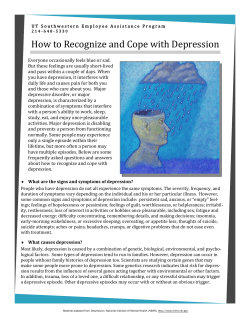How to Recognize and Cope with Depression