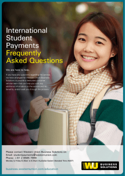 International Student Payments Frequently