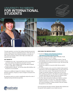 FOR INTERNATIONAL STUDENTS  UNIVERSITY PAYMENTS