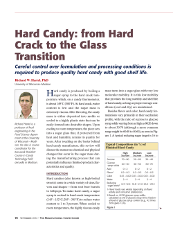 Hard Candy: from Hard Crack to the Glass Transition