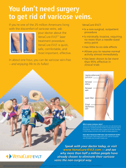 You don't need surgery to get rid of varicose veins.