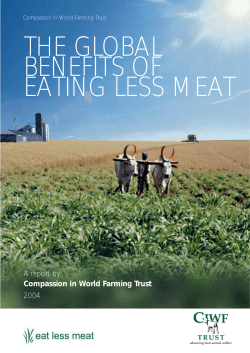 THE GLOBAL BENEFITS OF EATING LESS MEAT A report by