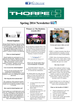 Spring 2014 Newsletter Winners @ The Dentistry Practice News Awards 2013