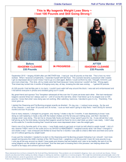 This is My Isagenix Weight Loss Story ~  Before
