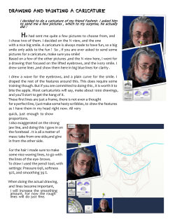 DRAWING AND PAINTING A CARICATURE