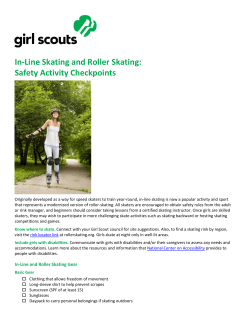 In-Line Skating and Roller Skating: Safety Activity Checkpoints