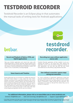 TESTDROID RECORDER