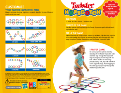 Customize Your twister HopsCotCH patH Contents