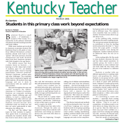 Kentucky Teacher B MARCH 2001