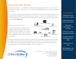 Concord Fax Online