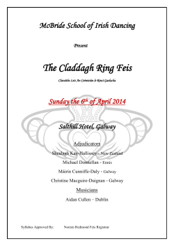 The Claddagh Ring Feis McBride School of Irish Dancing Sunday the 6