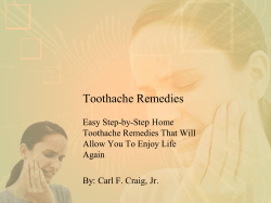 Toothache Remedies Easy Step-by-Step Home Toothache Remedies That Will