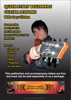 QUICK START BEGINNERS GUITAR LESSONS With Gary Clinton