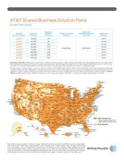 AT&T Shared Business Solution Plans A plan that works.