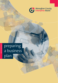 preparing a business plan T