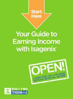 Your Guide to Earning Income with Isagenix Start
