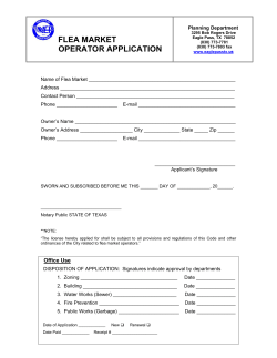 FLEA MARKET OPERATOR APPLICATION