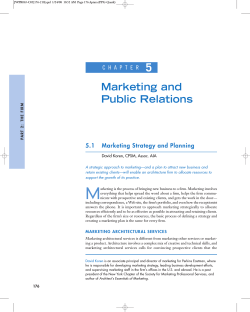 5 Marketing and Public Relations C H A P T E R