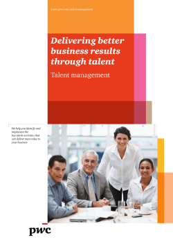 Delivering better business results through talent Talent management