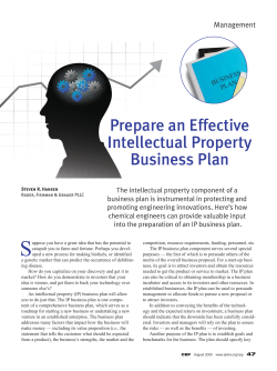 Prepare an Effective Intellectual Property Business Plan Management