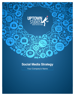 Social Media Strategy Your Company's Name