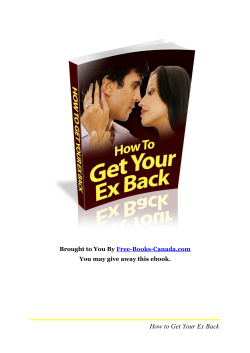 How to Get Your Ex Back  Free-Books-Canada.com