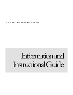Information and Instructional Guide  HACKING SECRETS REVEALED
