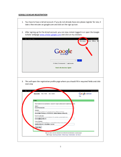 1.  You have to have a Gmail account. If you do not already have one please register for one, it  take a few minutes on google.com and click on the sign up icon.  GOOGLE SCHOLAR REGISTRATION
