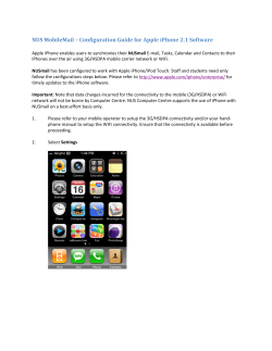 NUS MobileMail – Configuration Guide for Apple iPhone 2.1 Software