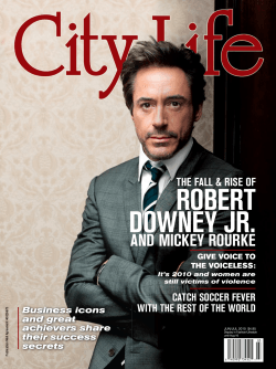 ROBERT DOWNEY JR. AND MICKEY ROURKE THE FALL & RISE OF