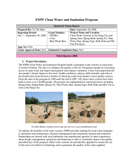 EMW Clean Water and Sanitation Program
