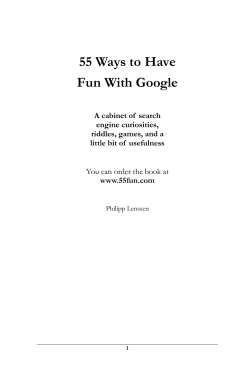 55 Ways to Have Fun With Google  A cabinet of  search