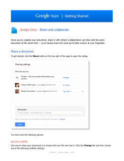Google Docs: Share and collaborate