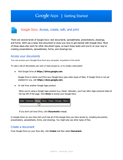 Google Docs: Access, create, edit, and print