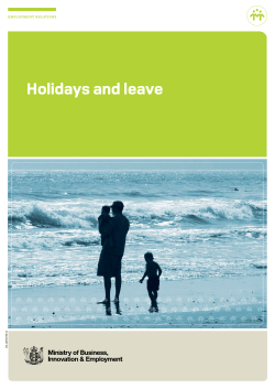 Holidays and leave EMPLOYMENT RELATIONS DOL 11657D FEB 13