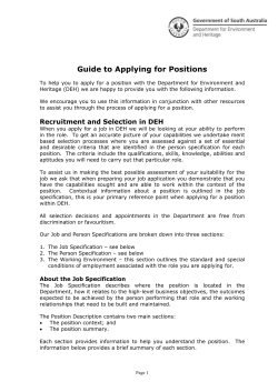 Guide to Applying for Positions