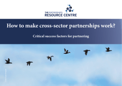 How to make cross-sector partnerships work? Critical success factors for partnering fie ra