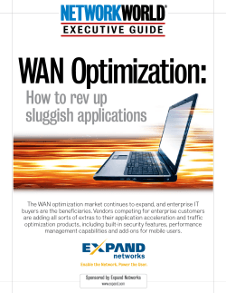 WAN Optimization:  How to rev up sluggish applications