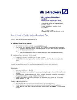 db x-trackers (Proprietary) Limited