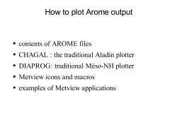How to plot Arome output