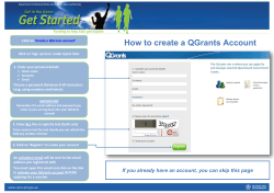 How to create a QGrants Account