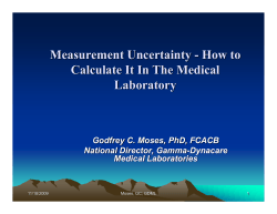 Measurement Uncertainty - How to Calculate It In The Medical Laboratory