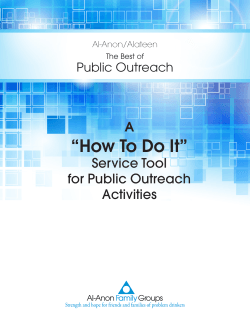 """How To Do It"" A Service Tool for Public Outreach"