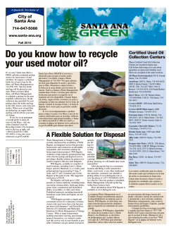 Do you know how to recycle your used motor oil? City of