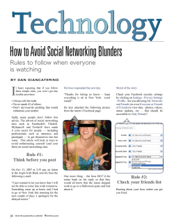 Technology How to Avoid Social Networking Blunders I Rules to follow when everyone